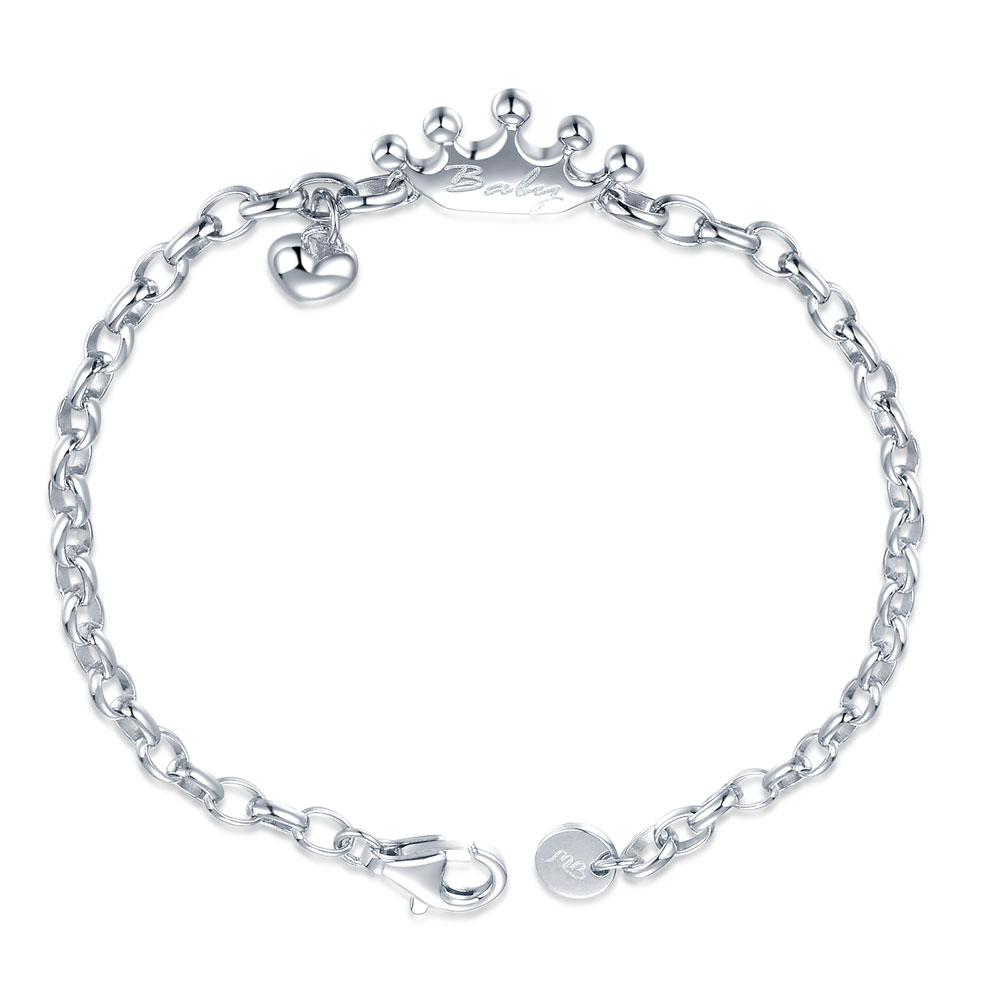 Baby Crown 925 Sterling Silver Baby Bracelet/Anklet