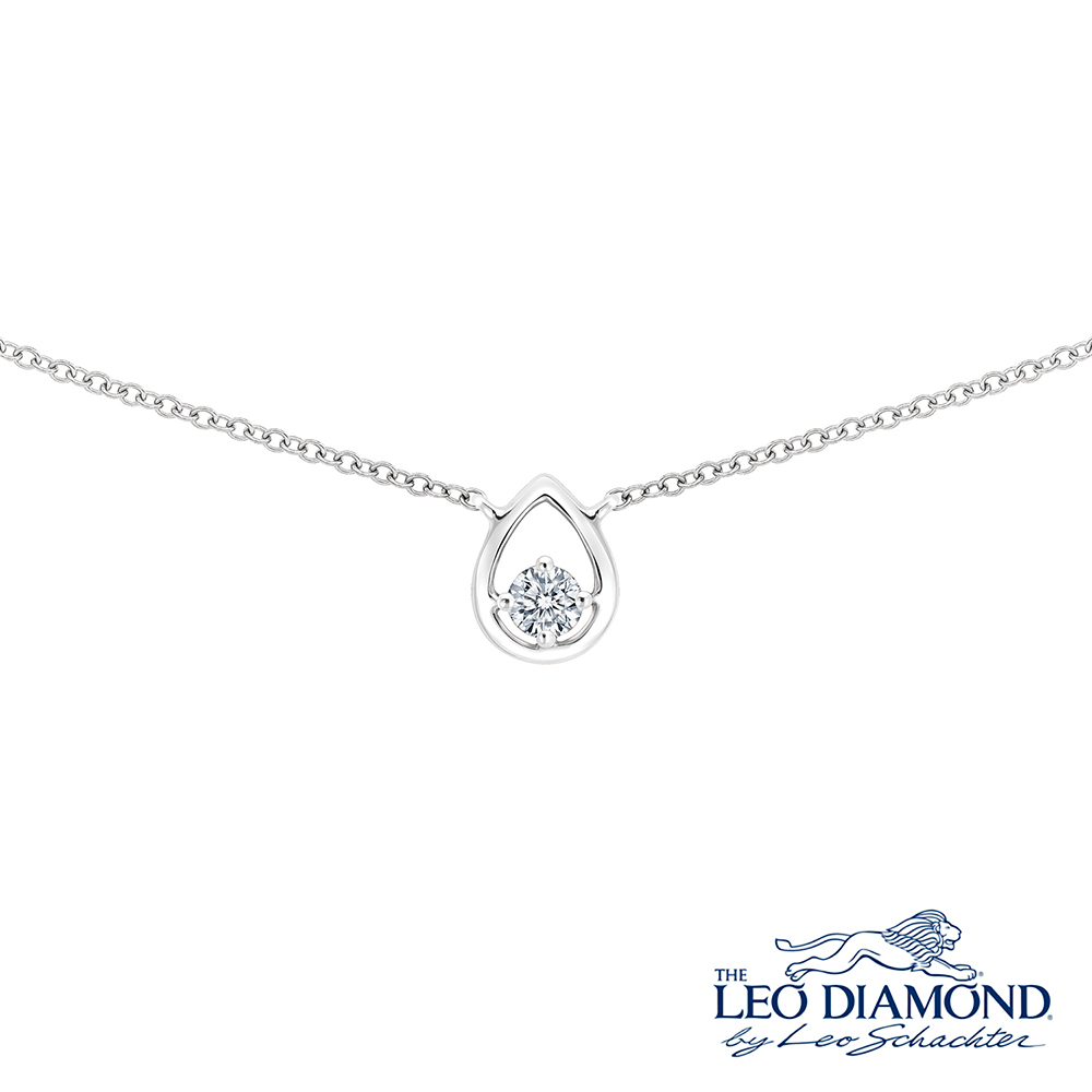 F07350N-18K/750 WHITE COLOR GOLD DIAMOND NECKLACE