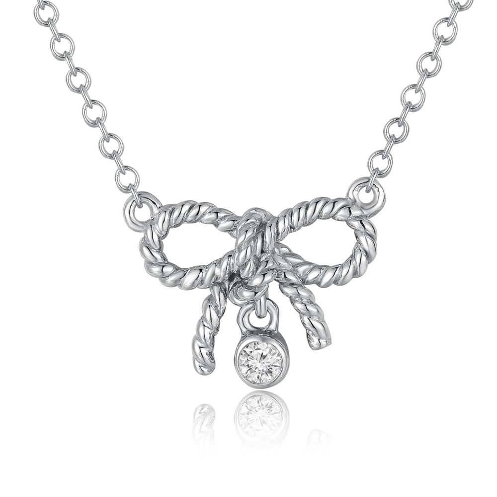 9K WHITE COLOR GOLD DIAMOND NECKLACE
