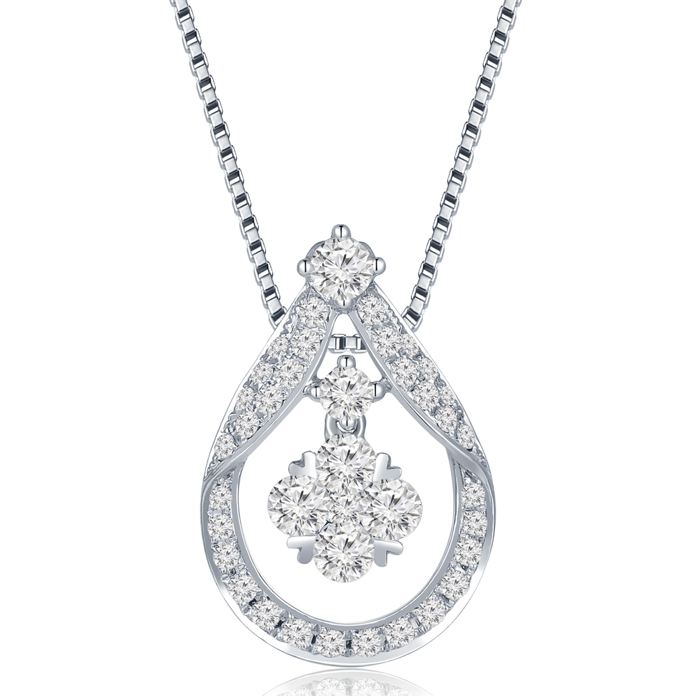 H06279P-18K/750 WHITE COLOR GOLD DIAMOND PENDANT