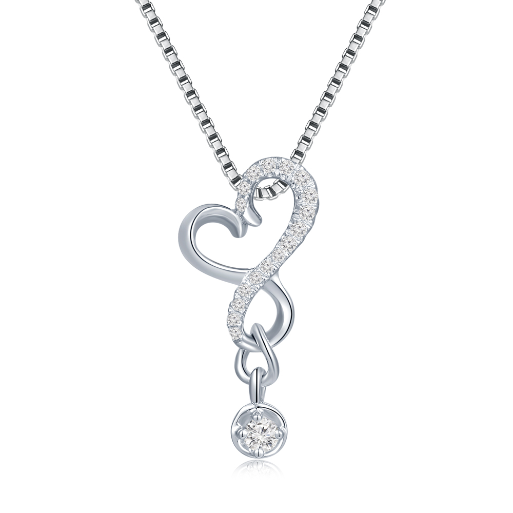 S10138P-18K/750 White Gold Diamond Pendant