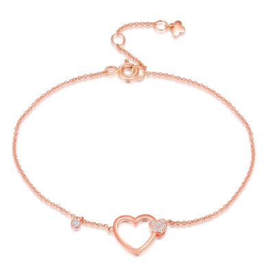 Heart Melting Nightfall 18K/750 Rose Gold Diamond Bracelet