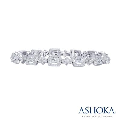 L01222B-ASHOKA® 18K/750 White Color Gold Diamond Bracelet