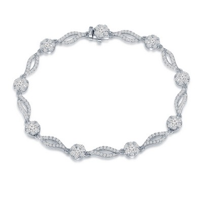 18K/750 White Color Gold Diamond Bracelet