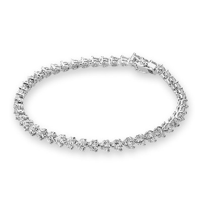 P00570B-18K/750 White Color Gold Diamond Bracelet