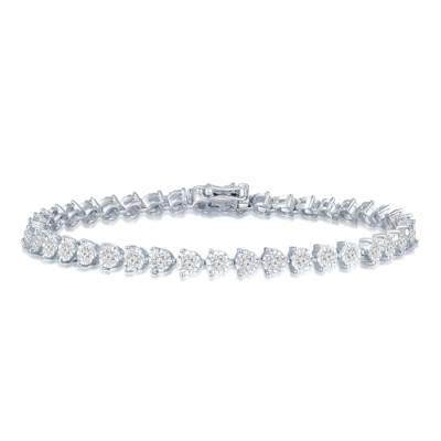 P11315B-18K/750 White Color Gold Diamond Bracelet