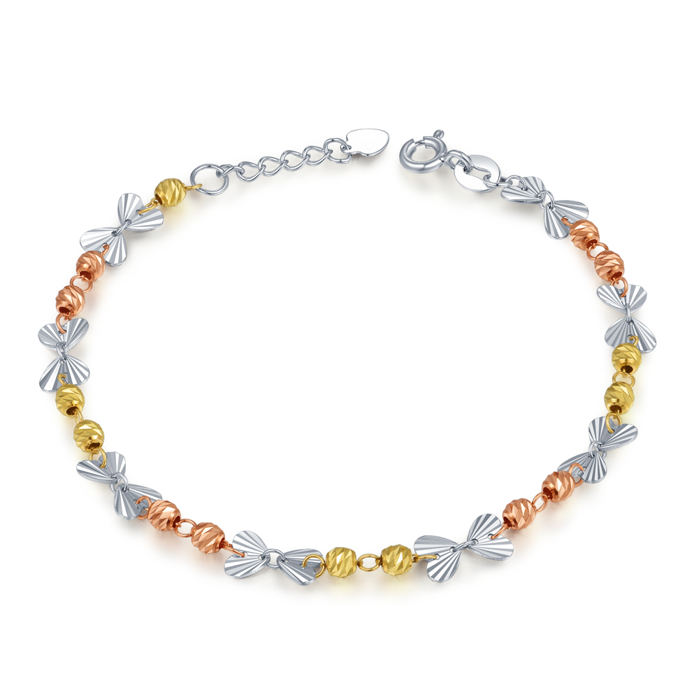 B06626B-14K/585 Yellow, White and Red Color Gold Gold Bracelet