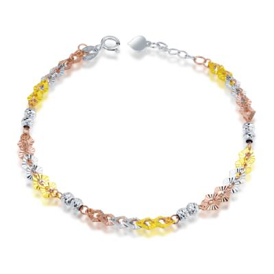 B06749B-14K/585 Yellow, White and Red Color Gold Gold Bracelet