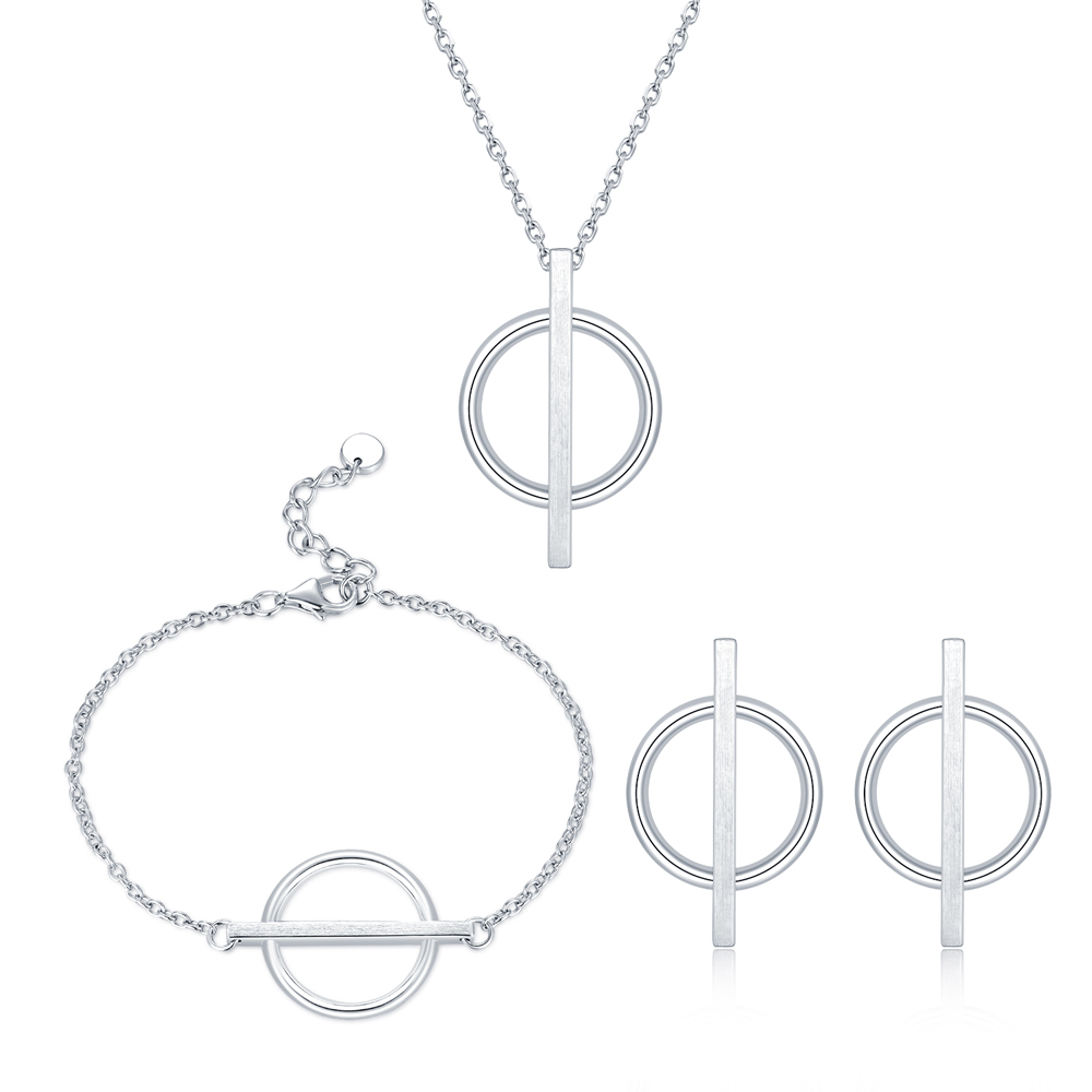 A10723SET-The Universe 925 Sterling Silver Jewellery Set