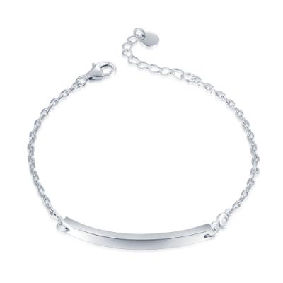 B06480B-Message 925 Silver Diamond Bracelet