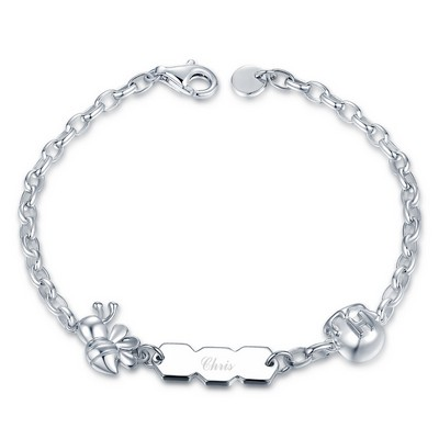 C07118SET-Baby Bee 925 Silver Baby Bracelet/Anklet
