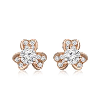 S08599E-18K/750 Rose Color Gold Diamond Earrings