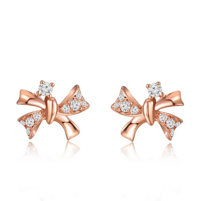 Royal Complex 9K/375 Rose Gold Diamond Earrings