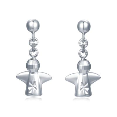 14K/585 White Color Gold Gold Earrings