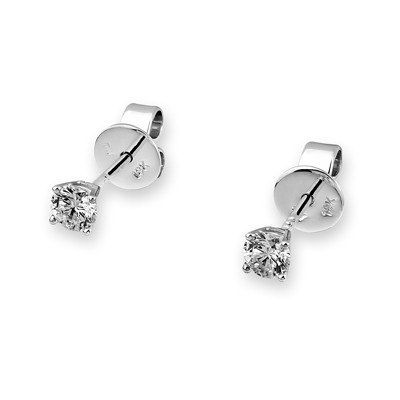 D00686E-18K/750 WHITE COLOR GOLD DIAMOND EARRINGS