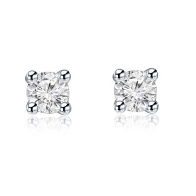 D00732E-18K/750 White Color Gold Diamond Earrings