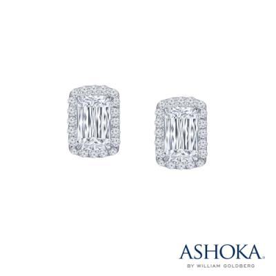 L01245E-ASHOKA® 18K/750 White Color Gold Diamond Earrings