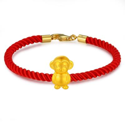 C07063J-Lively Monkey - Baby Gold Charm