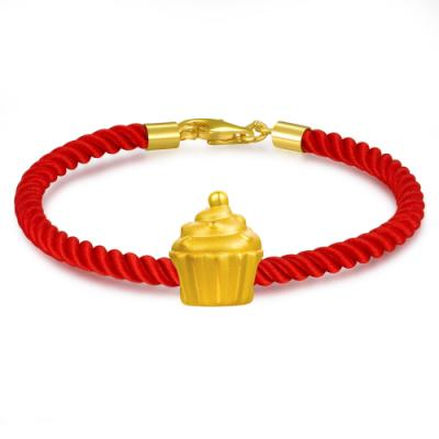 C07311J-Baby Cupcake Baby Gold Charm (Free Red String)