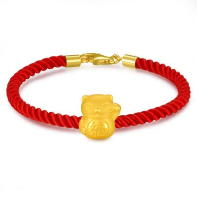 C07871J-Beckoning Cat Gold Charm (Free Red String)
