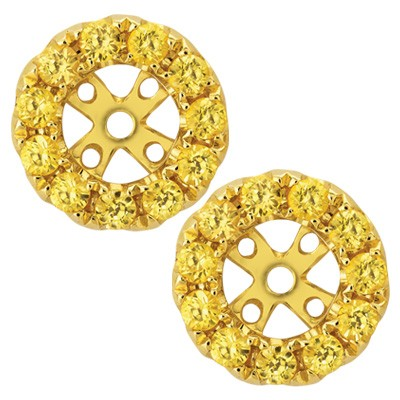 J13301J-18K/750 Yellow Color Gold Color Stone Spare Parts