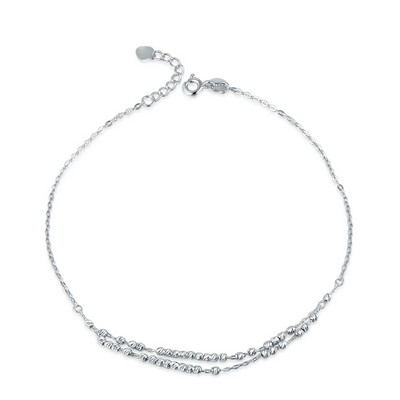 B06500K-14K/585 White Color Gold Gold Anklet