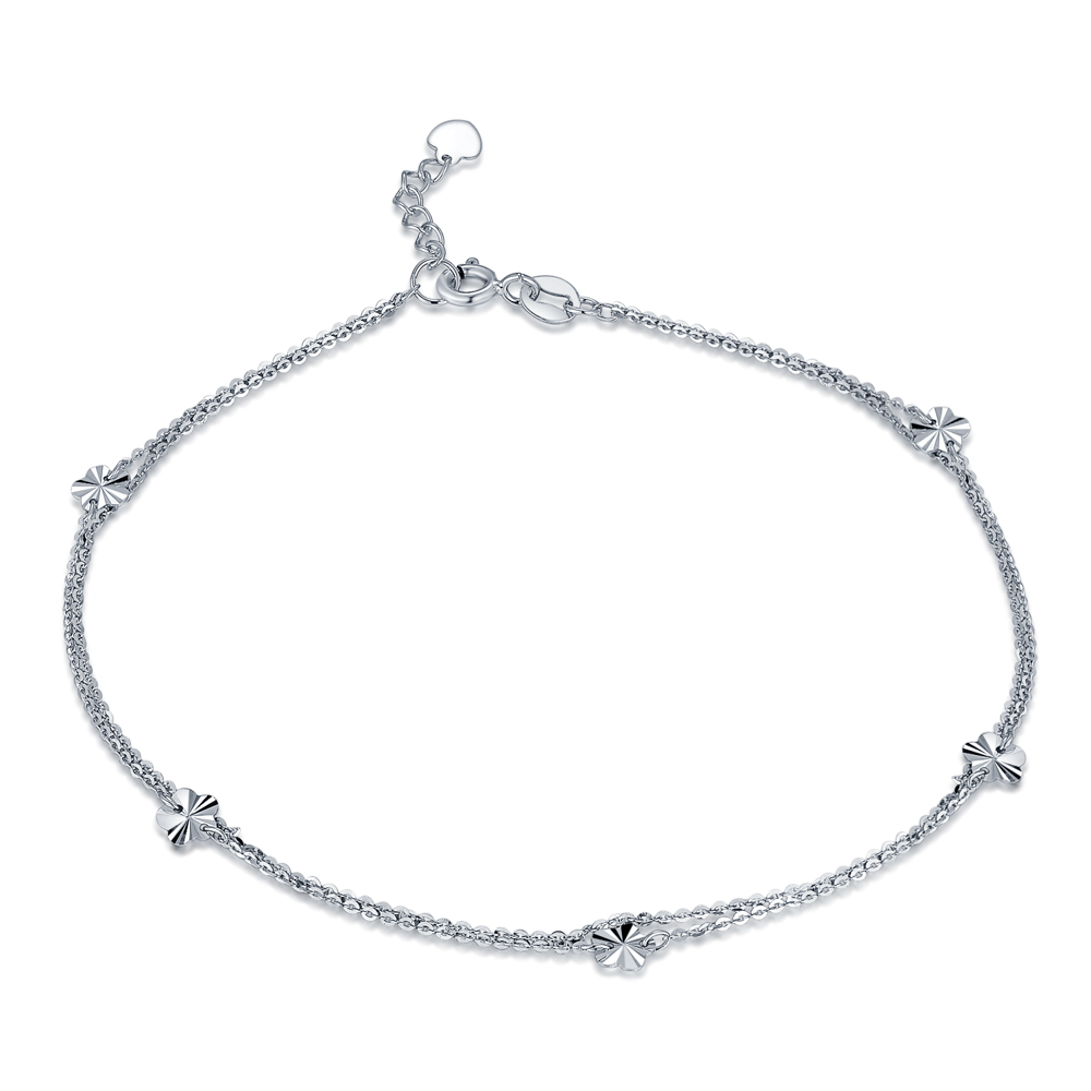 B06707K-14K/585 White Color Gold Gold Anklet
