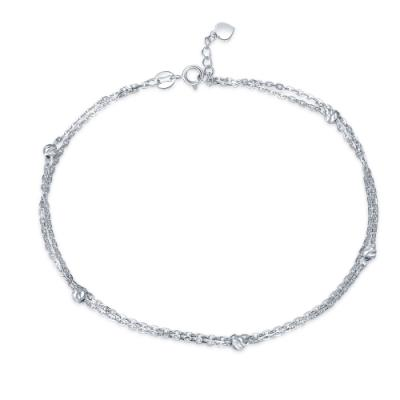 B06935K-14K/585 White Color Gold Gold Anklet