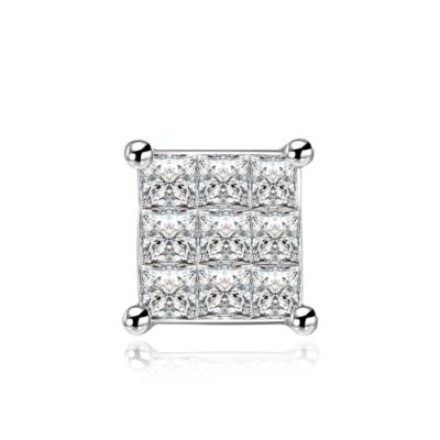 J14067L-18K/750 White Color Gold Diamond Single Earring
