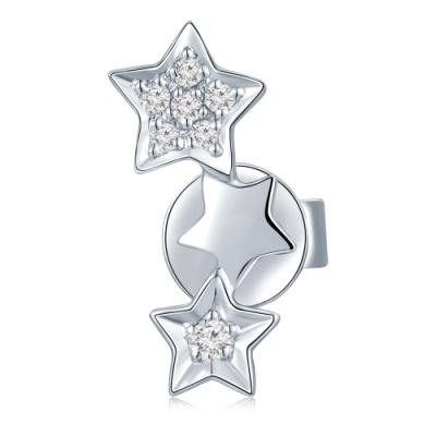 S01999L-Star Whisper 18K/750 White Gold Diamond Single Earring