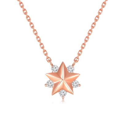 Wish Upon A Star 18K/750 Rose Gold Diamond Necklace