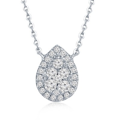 18K/750 White Color Gold Diamond Necklace