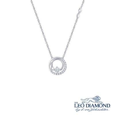 N03816N-The Leo Diamond® 18K/750 White Color Gold Diamond N..