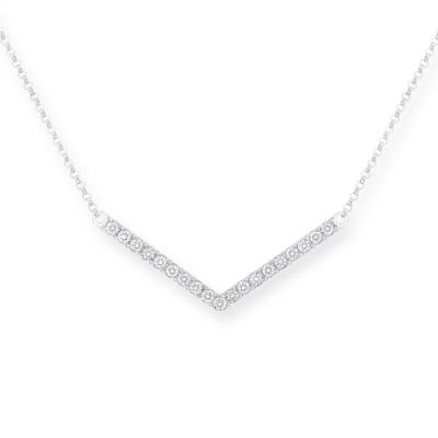 P11199N-18K/750 White Color Gold Diamond Necklace