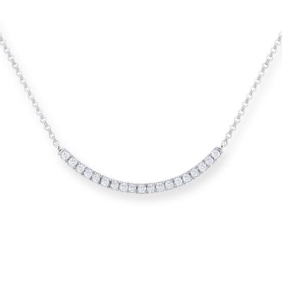 P11211N-18K/750 White Color Gold Diamond Necklace