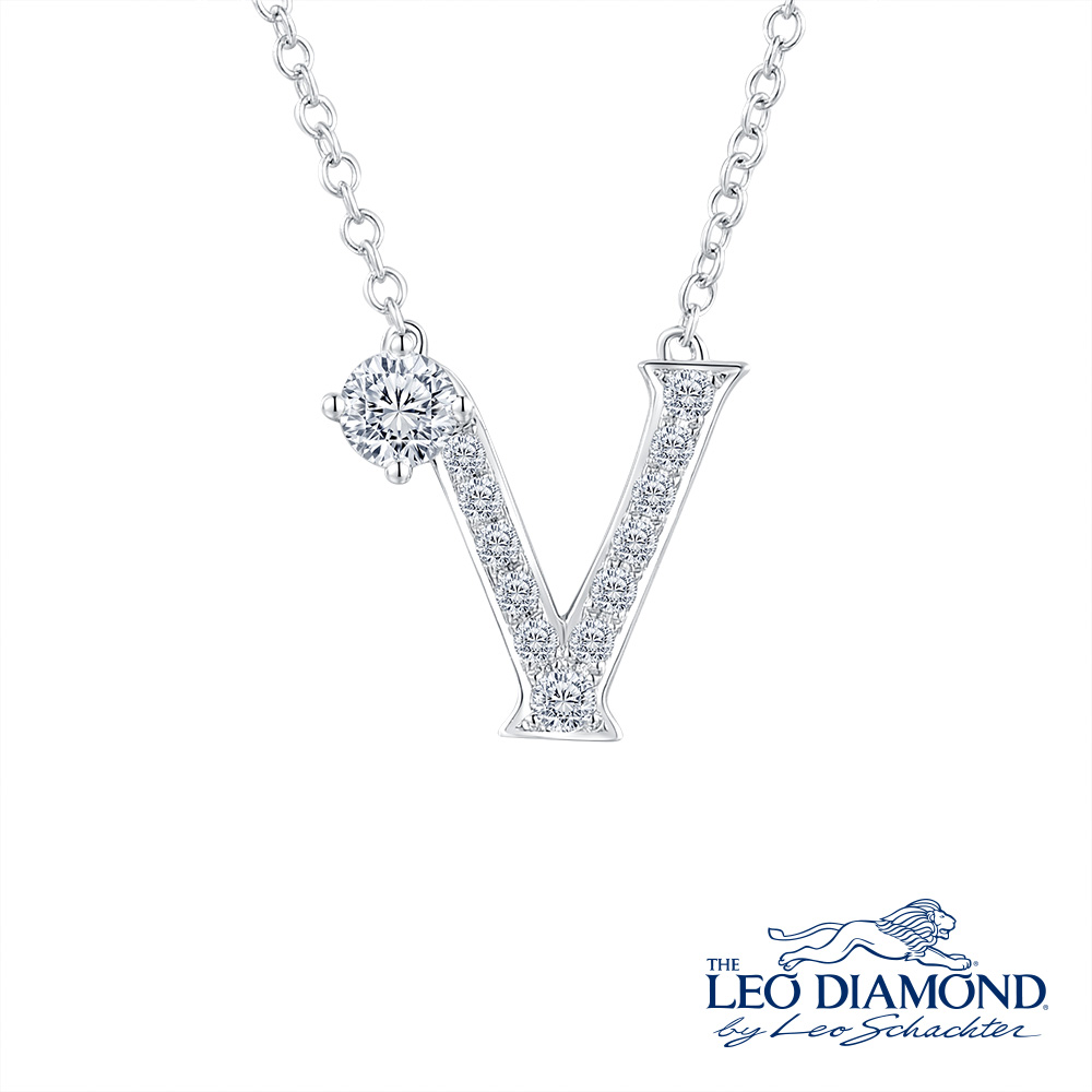 S10068N-The Leo Diamond® 18K/750 White Color Gold Diamond N..