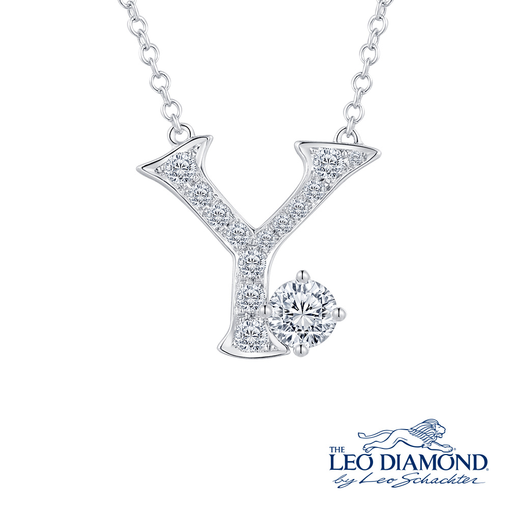 S10071N-The Leo Diamond® 18K/750 White Color Gold Diamond N..