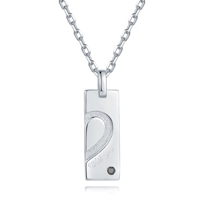 C07123N-Silver / 925  Silver 925 Necklace