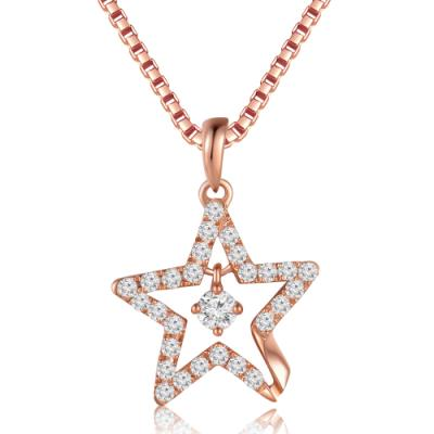 18K/750 Rose Color Gold Diamond Pendant