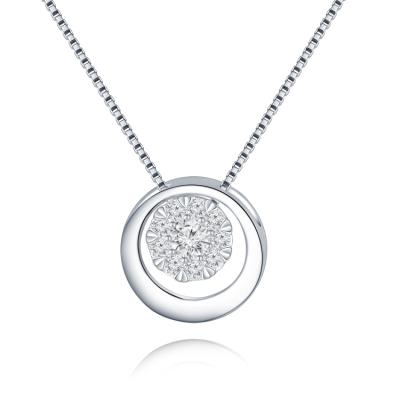 H05314P-18K/750 White Color Gold Diamond Pendant