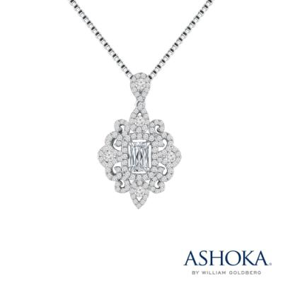 L02270P-ASHOKA® 18K/750 White Color Gold Diamond Pendant