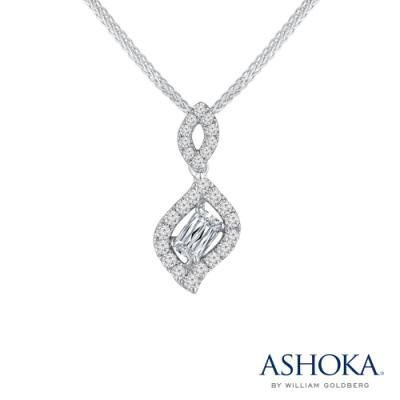 N03326P-ASHOKA® 18K/750 White Color Gold Diamond Pendant