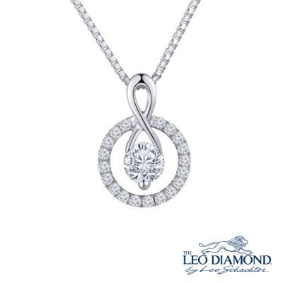 N03793P-The Leo Diamond® 18K/750 White Color Gold Diamond P..