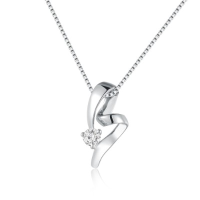 S02141SET-Selfless Love 18K/750 White Gold Diamond Pendant (Free Necklace)