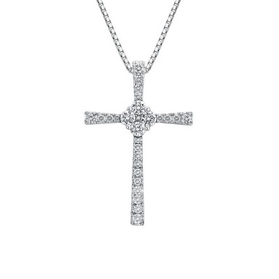 S06922P-18K/750 White Color Gold Diamond Pendant
