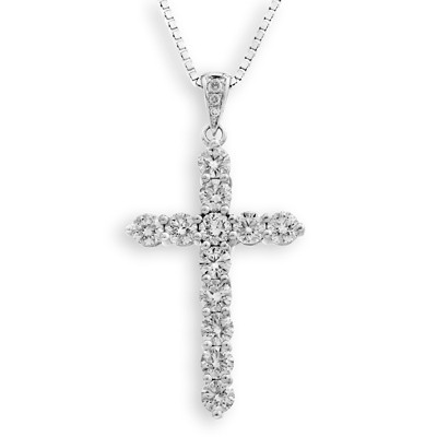 S07200P-18K/750 White Color Gold Diamond Pendant