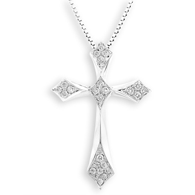 S07266P-18K/750 White Color Gold Diamond Pendant