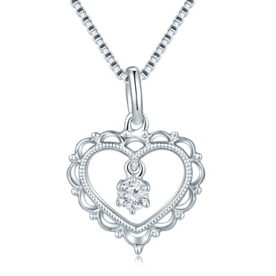S08936P-18K/750 White Color Gold Diamond Pendant