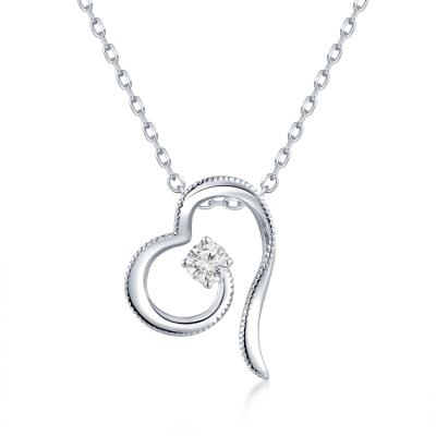 S09096P-18K/750 White Color Gold Diamond Pendant