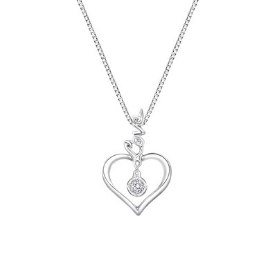S09574P-18K/750 White Color Gold Diamond Pendant